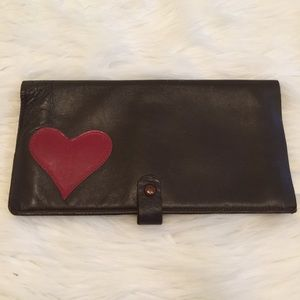 VINTAGE JOSE COTEL Leather Heart Clutch